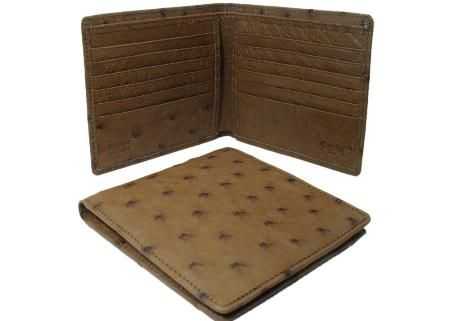 These ostrich wallets are part of Seek Ostrich Good's Ferrini line our Italian ostrich leather products.