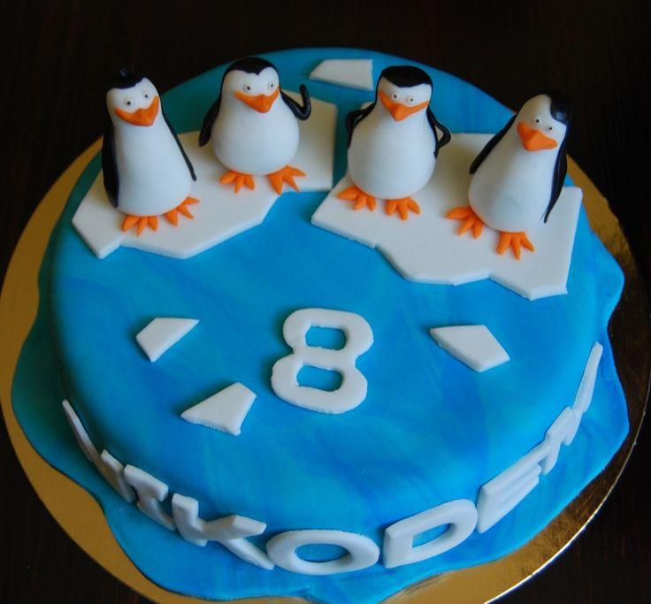 "Madagascar penguin cake...Onur loves Madagascar penguins...""I like to move it, move it!"" :)"