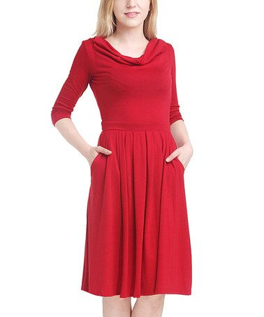 This Red A-Line Dress by Reborn Collection is perfect! #zulilyfinds