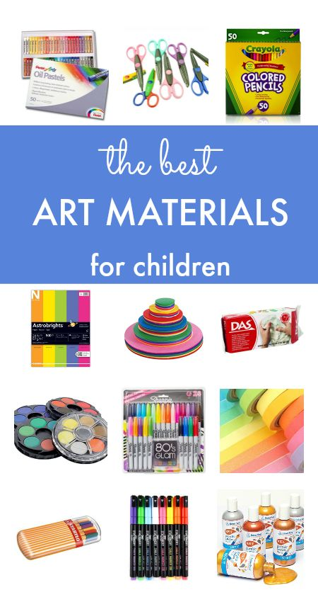 How to set up a kids art space and the best art materials for children. Free printable post of the A-Z of art supplies included.