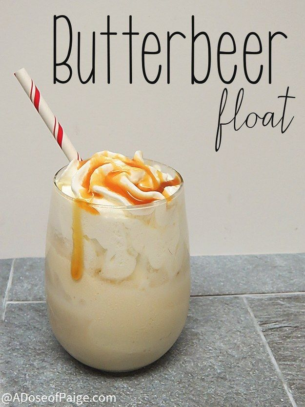 Butterbeer Float | Community Post: 18 Fandom Inspired Recipes That Every Fan Will Love