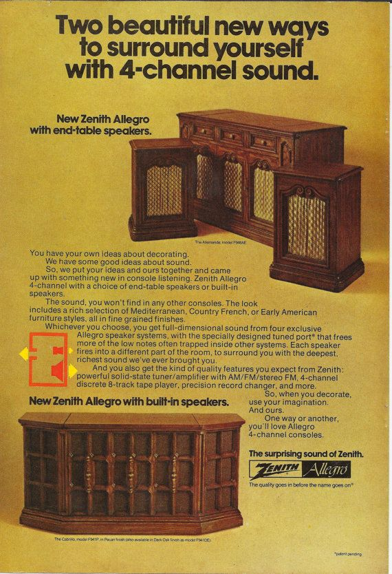 Zenith Allegro Console Stereo Original 1974 by ...