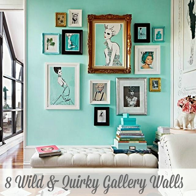 Style a quirky, vibrant, colorful gallery wall with this inspiration.