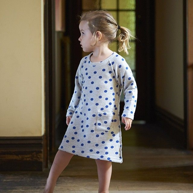 The lovely new emeline sweatshirt dress has arrived online! In store on Tuesday. xx #polkadot #naturebaby #W15