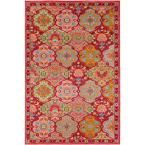 Anika Bright Pink 7 ft. 10 in. x 10 ft. 3 in. Indoor Area Rug