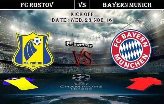 FC Rostov vs Bayern Munich 23.11.2016 Predictions - PPsoccer