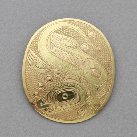 "THIS JUST IN: Q'olsqexda (Otter) Pendant • Lyle Wilson • Haisla Nation ""In the olden days, the Haisla believed a land otter to be a shaman's spirit-helper. Unlike its cousin (the sea otter), the land otter is comfortable on land, and in both ocean and fresh water streams and rivers. Because it seemed so at home in multiple environments, the land otter was thought to be magical and so shamans enlisted its help in both bad and good magical undertakings. Now we know that the land otter doesn't…"