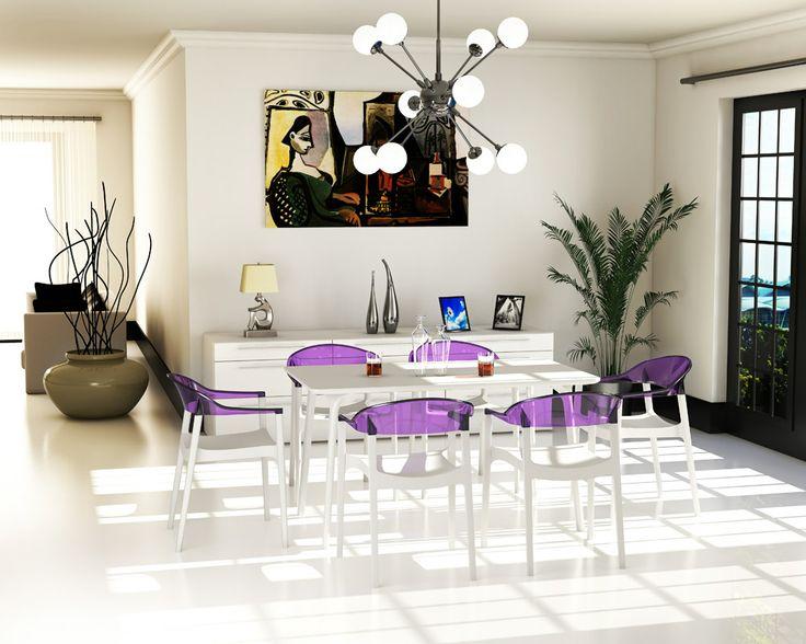 #alterdeco : Un design tendance dans les tons blanc avec quelques touches de couleurs. On AIME ça !