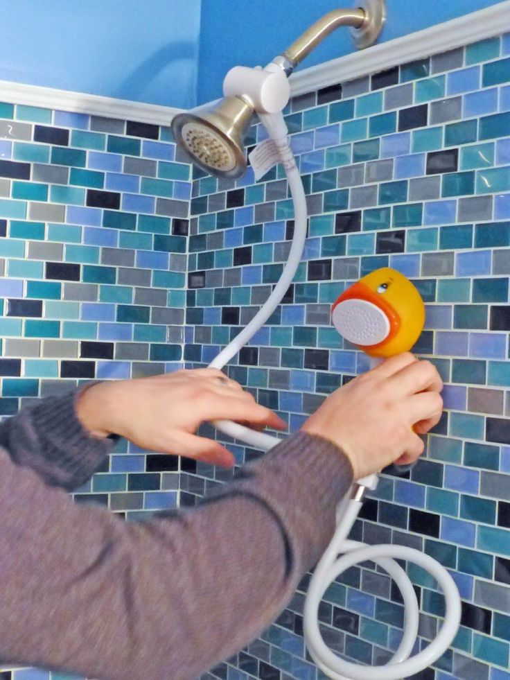 Best kids shower head has 51 spray jets for great rinsing; soft 1.5 gpm spray is gentle enough for infants & kids of all ages ~ http://walkinshowers.org/best-kids-shower-head-reviews.html
