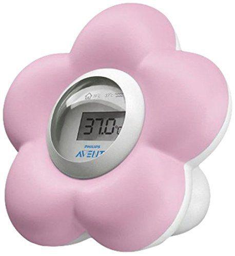 Philips AVENT bébé SCH550/20Thermomètre bain et chambre: Flotte sur l'eau Ce thermomètre numérique mesure la température du bain et de la…