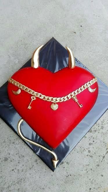 Birthday heart for man - Cake by babkaKatka