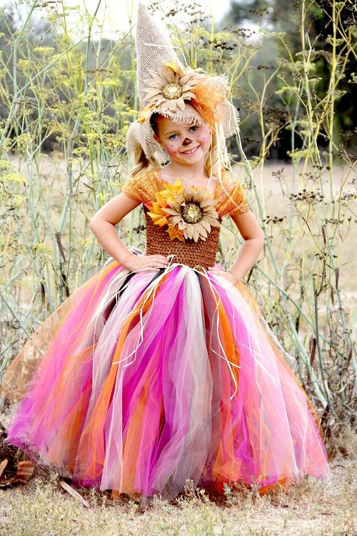 Sassy Scarecrow Tutu Dress.....halloween fall by tutuglamourous, $109.99 I like the shoulders on this one