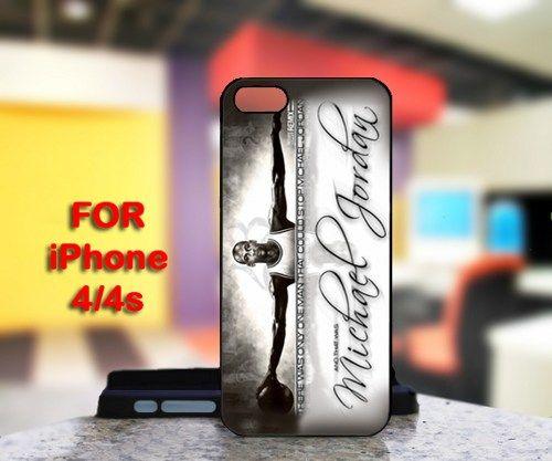 Michael Jordan For IPhone 4 or 4S Black Case Cover