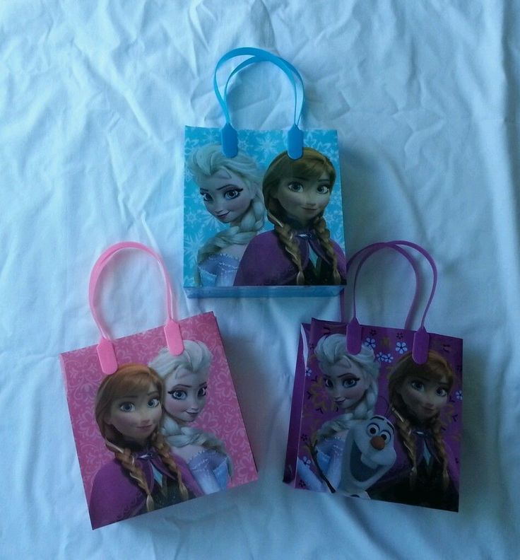 12 Pcs Disney Frozen Favor Bags Party Goody Tote Candy Gift Treat Anna Elsa Olaf