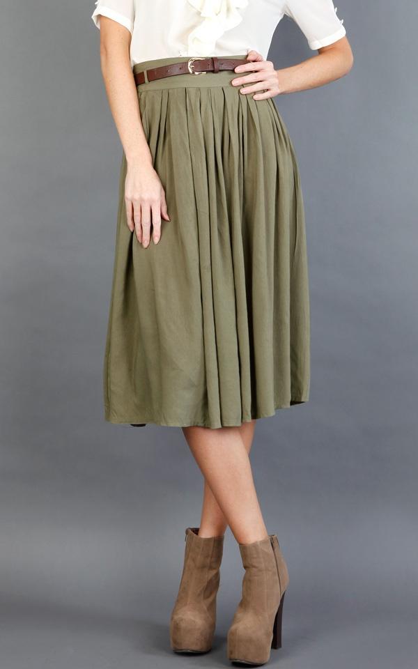 @ www.makemechic.com/p-41813-hk818-belted-pleated-knee-length-skirt-olive.aspx