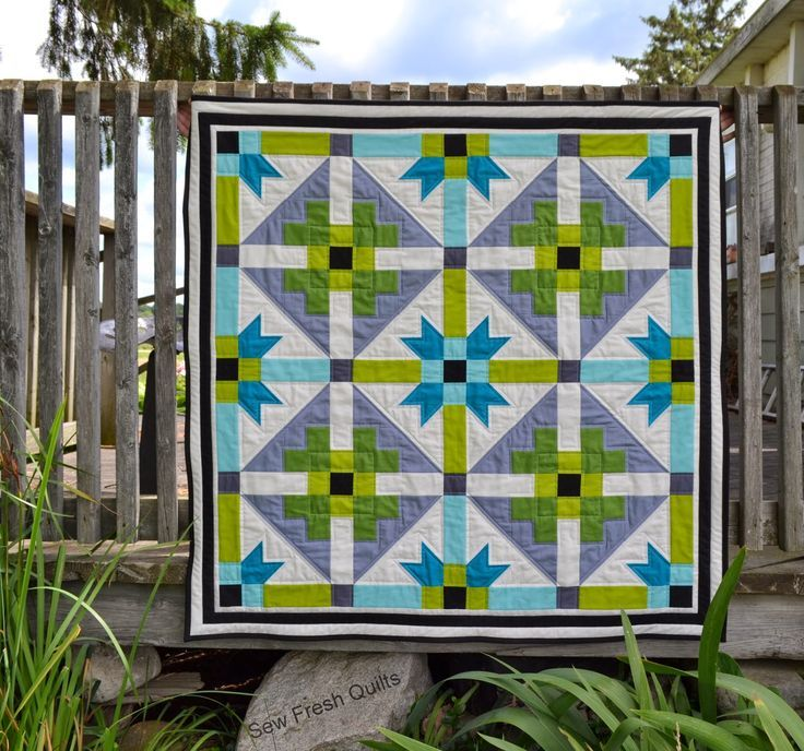 Sew Fresh Quilts: GenX-Aztec Baby Quilt with Tutorial
