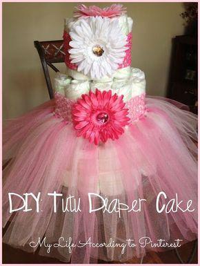 My Life According to Pinterest: DIY: Tutu Diaper Cake