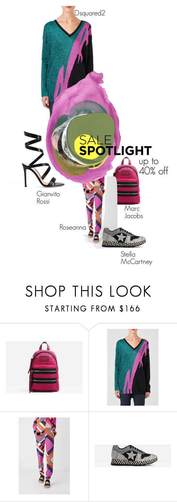"""Ekseptional SALE"" by ekseption ❤ liked on Polyvore featuring Marc Jacobs, Dsquared2, Roseanna, STELLA McCARTNEY, Gianvito Rossi, sale, sales and ekseption"