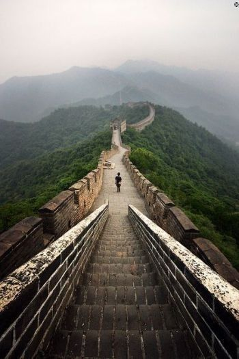 Great Wall in China, famous.  www.ricemachinechina.com