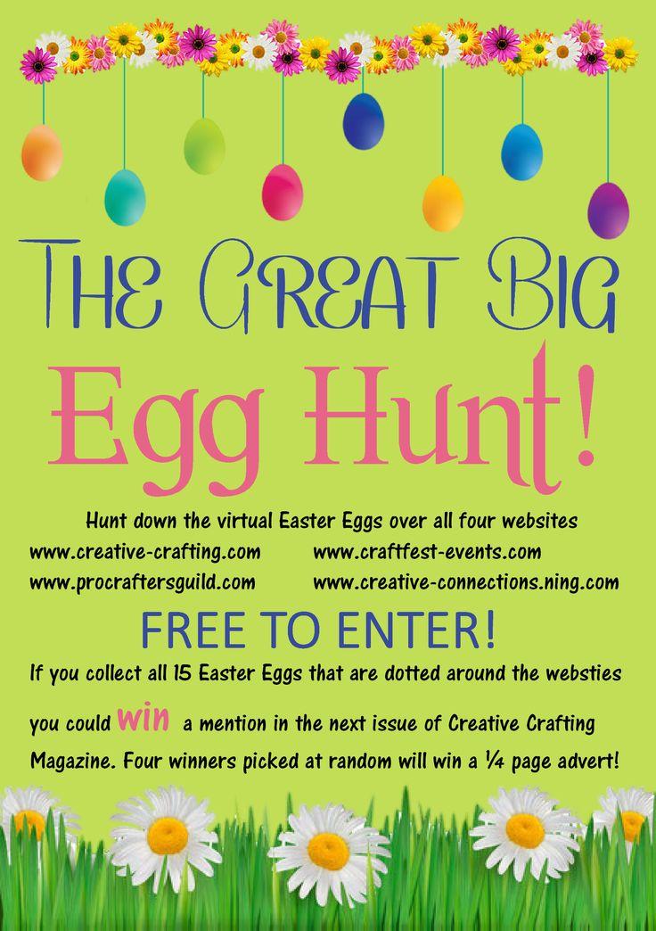 Who wants to have some fun? The Great Big Egg Hunt is now LIVE! http://craftfest-events.com/egg_hunt.html