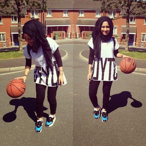 Sporty Hijab Styles For School