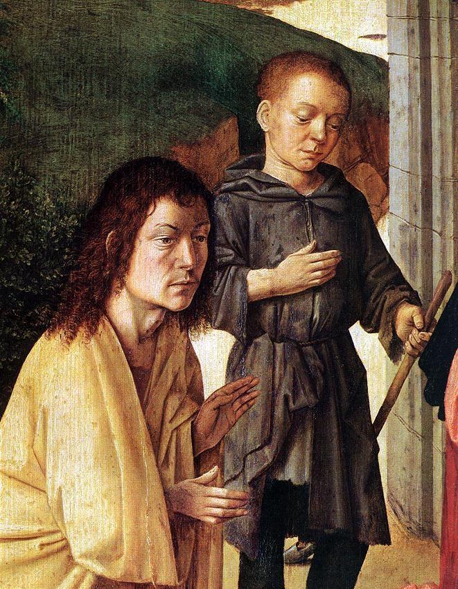Gerard David (1460-1523). The Nativity (detail) 1490