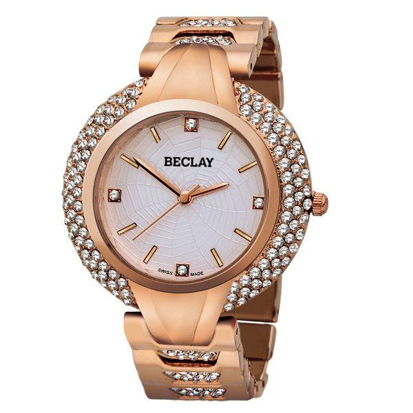 Reloj dorado de la marca BECLAY de CRISTIANLAY. www.cristianlay.com