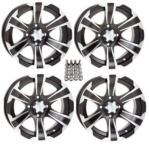 "ITP SS312 ATV Wheels/Rims Black 12"" Honda Rincon Yamaha Rhino Kawasaki Brute Force Suzuki KingQuad (4). For product info go to:  https://www.caraccessoriesonlinemarket.com/itp-ss312-atv-wheelsrims-black-12-honda-rincon-yamaha-rhino-kawasaki-brute-force-suzuki-kingquad-4/"