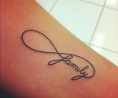 Infinity Family Tattoo - for Lyssa