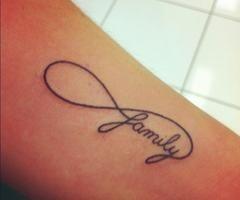 Infinity Family Tattoo - for Lyssa