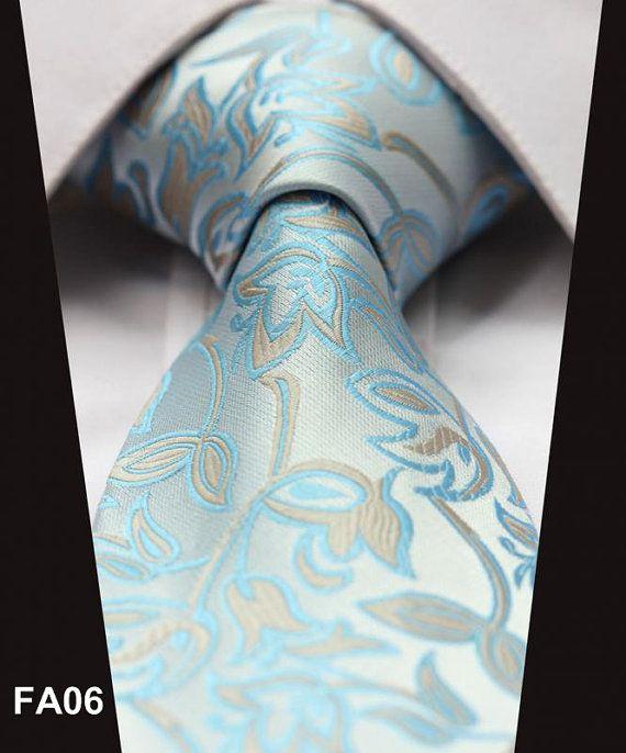 Necktie pale blue flowers ties, men ties, wedding neckties, formal neckties, groomsmen ties,silk ties on Etsy, $15.00