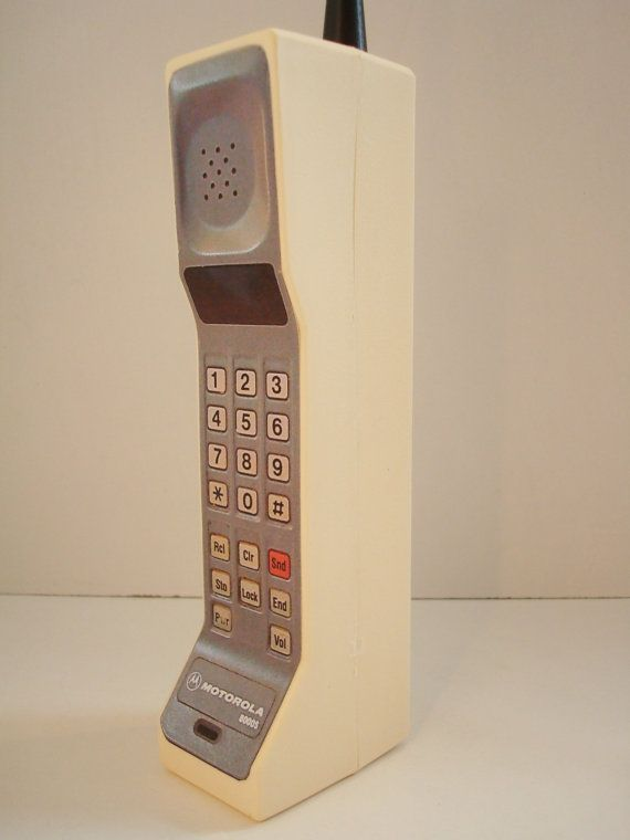 1980s Style Vintage Brick Toy Cell / Mobile Phone Toy / Prop - DynaTAC 8000s
