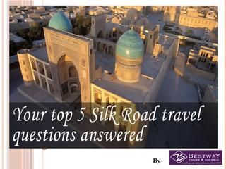 Central Asia is an exciting new destination to consider for the new year! Get our top tips for experiencing the Silk Road, now in slideshow format. https://issuu.com/bestway92/docs/your_top_5_silk_road_travel_questio
