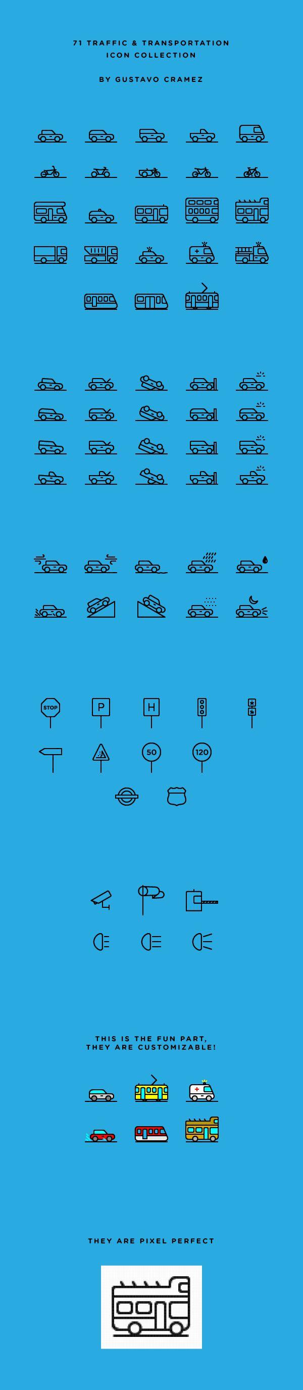 71 Traffic Icons