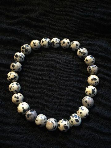 Dalmatian Jasper Stretch Bracelet