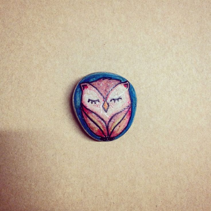 Stone owl - Hand illustrated for Miss Elfi.