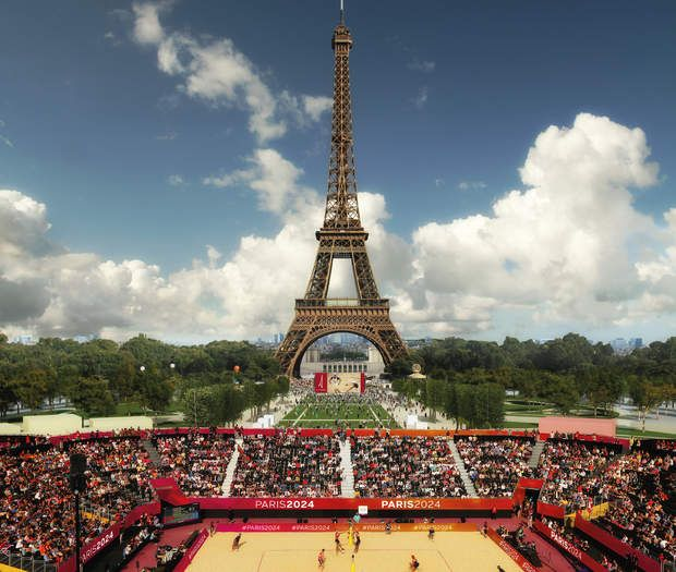 Le Beach Volley sous la tour Eiffel De jour, sous le soleil estival, mais aussi de nuit avec une légère brise, le tournoi de beach-volley se jouerasur le Champ de Mars. Avec la Tour Eiffel en toile de fond. Une expérience qui a déjà été menée à plusieurs reprises à l'occasion d'étapes de coupes du monde.