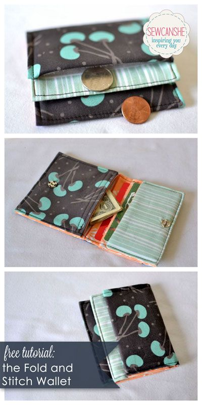 The Fold and Stitch Wallet tutorial