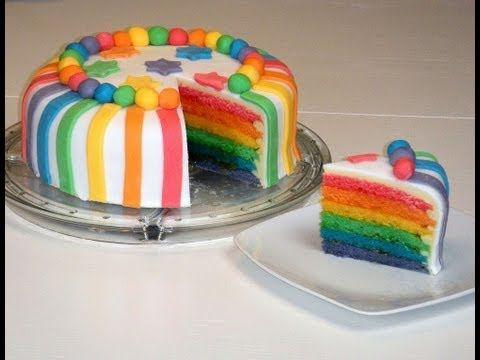 Regenbogenkuchen weniger süß