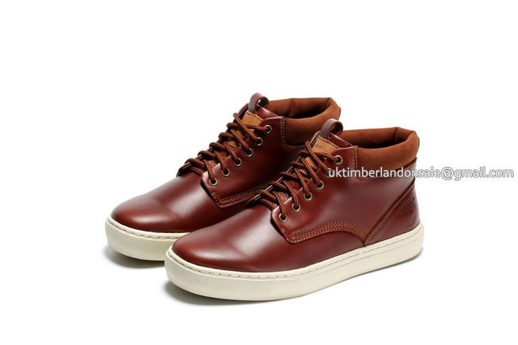 Timberland Chukka Boots For Men Earthkeepers Smooth Burgundy White$ 84.00