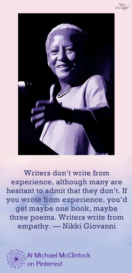 Nikki Giovanni quote on poetry.