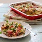 Easy potato gratin with cheese