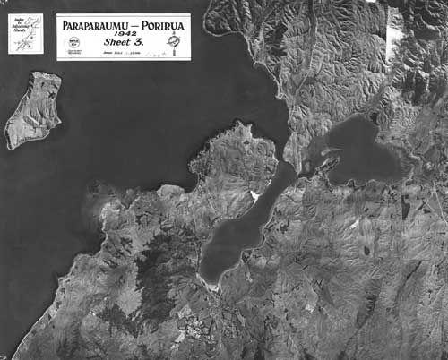 Aerial photo of Porirua City 1942.