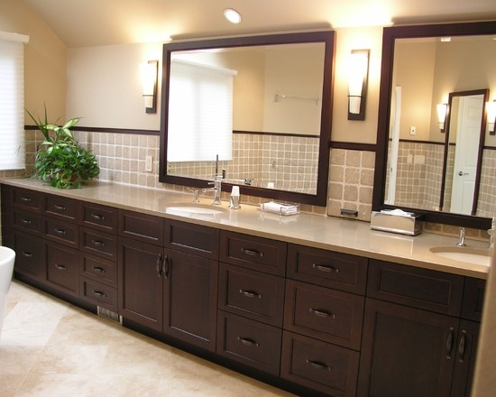 Bathroom Hardware Design, Pictures, Remodel, Decor and Ideas - page 2  I like the idea of putting dark hardware on warm colored cabinets.: Cabinets, Bathroom Design, Contemporary Bathrooms, Design Ideas, Bathroom Remodel, Bathroom Ideas, Photo, Master Bathroom