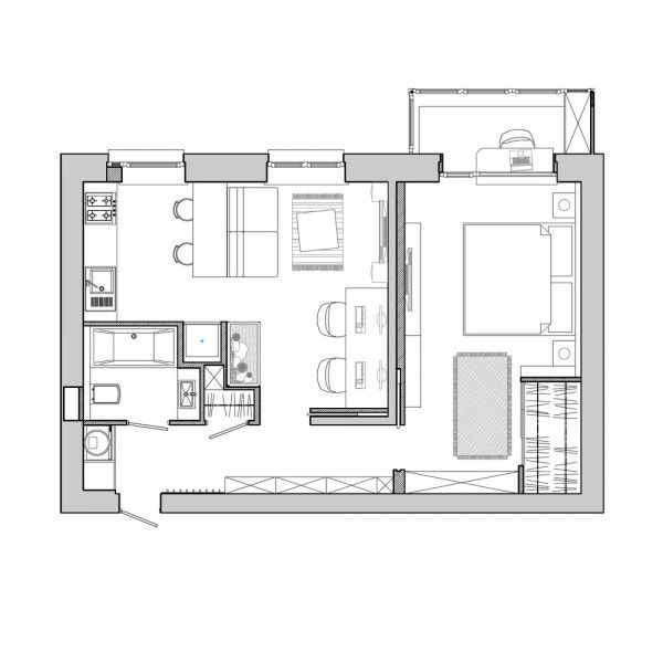 26 best 2d images on pinterest floor plans house for Apartment 2d plans