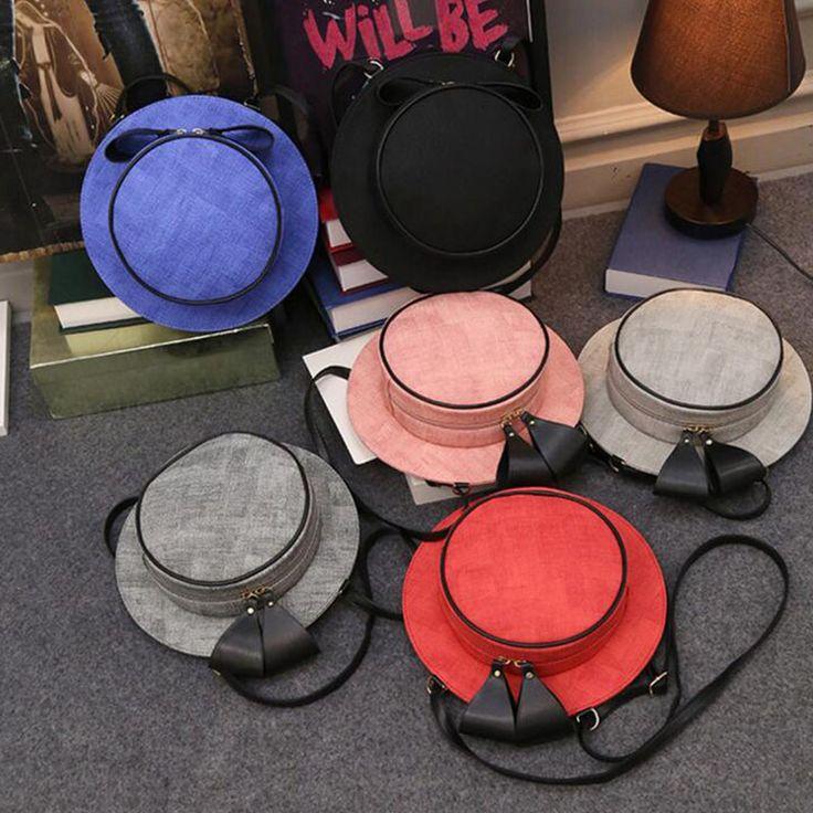 Hat back bags women messenger bags ladies funny crossbody bag