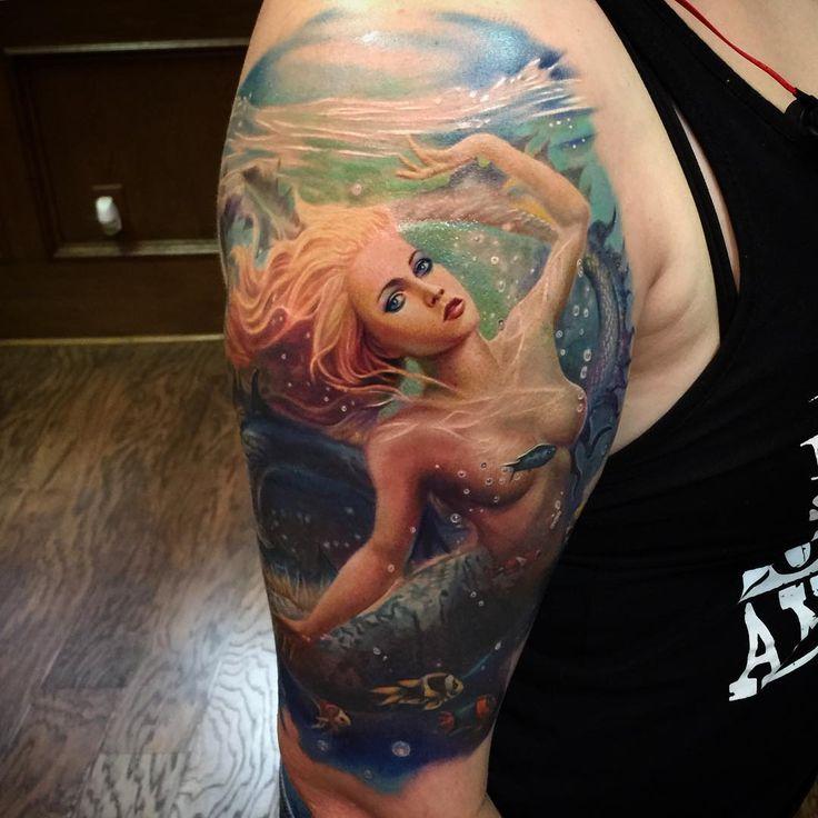 50 Lovely Mermaid Tattoos For Women: 16 Best Mermaid Tattoo, Tatuaggi Sirena Images On