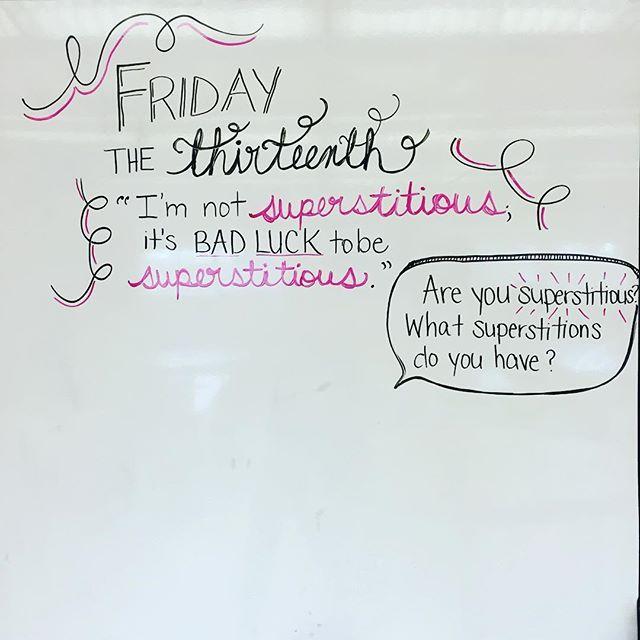#fridaythe13th Are you superstitious?? #teachersfollowteachers…