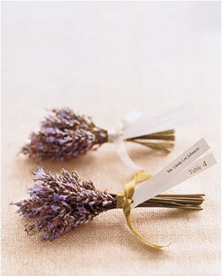 lavendar seating cards _marthastewart