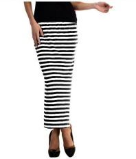 GsaEnterprises Black Cotton Bodycon Skirts